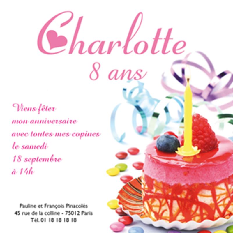 Carte anniversaire fille - Gateau d anniversaire fille ...