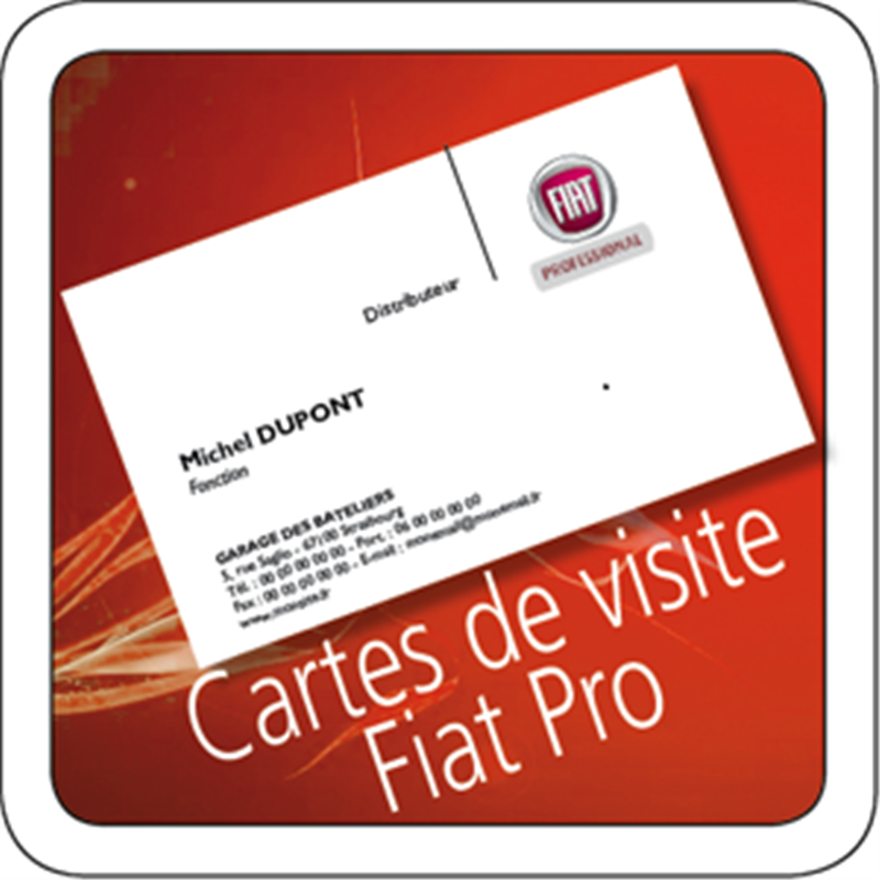 carte de visite fiat pro. Black Bedroom Furniture Sets. Home Design Ideas