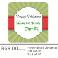 Christmas Gift Labels Green