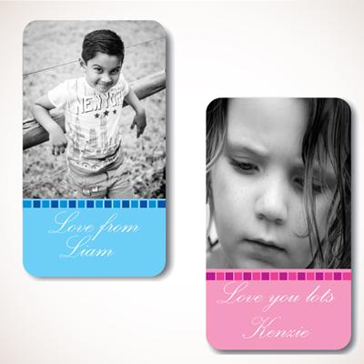 Blue Steps Photo Gift Labels