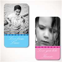 Pink Steps Photo Gift Labels